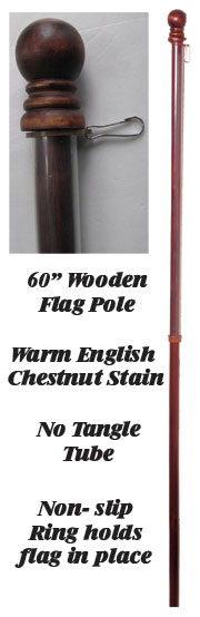 "60"" Wooden Flag Pole"