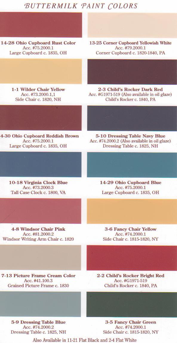 Olde Village Paint Colors