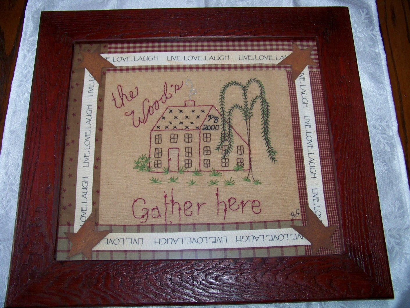 Framed Custom Stitchery