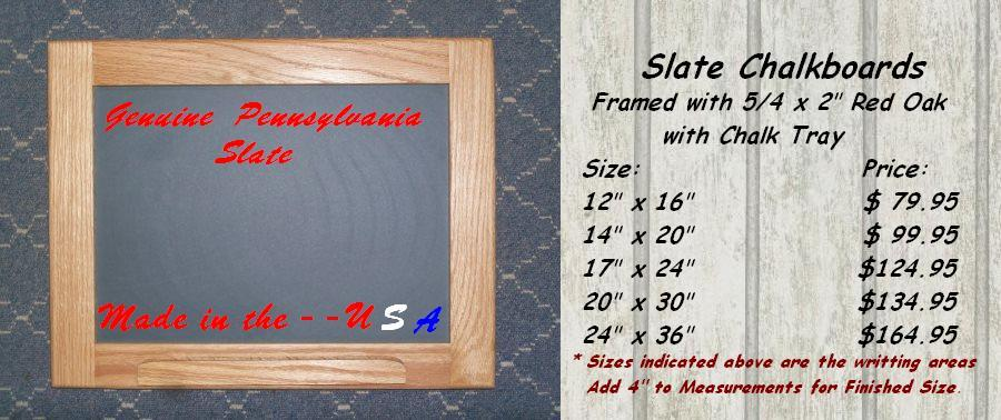 Real Slate Chalkboards