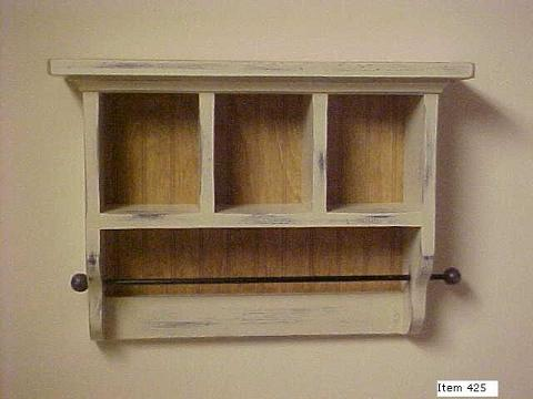 3 Cubby Shelf with towel bar