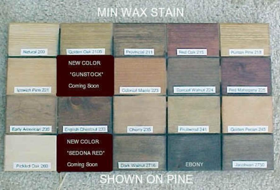 Minwax Colors on Pine Minwax Wood Stain Colors on